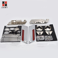 ZXMT Motorcycle Chrome Lids Latch Set Cover for Harley Davidson Saddlebag Latch Touring Models Hardware Kit 1993 2013