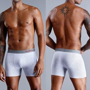 Image 4 - 4 Pieces Mens Underwear Boxers Bamboo Underwear Male Underpants Men Sexy Under Wear Sexy Boxer Man Calecon Man Cotton Penis 2019