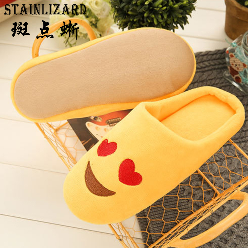 Women Slippers Plush Cute Emoji Slippers Winter Warm Soft Women Indoor Floor Shoes Home Non-slip Cotton Shoes BT626 cortigiani w14092473761