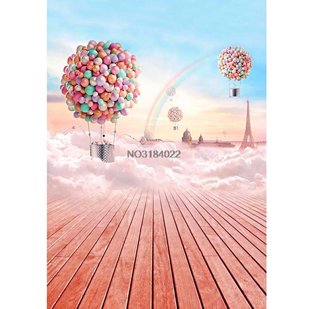 3x5ft Balloon Board Rainbow Photography Background Backdrop Studio Photo Props #4XFC# Drop Ship