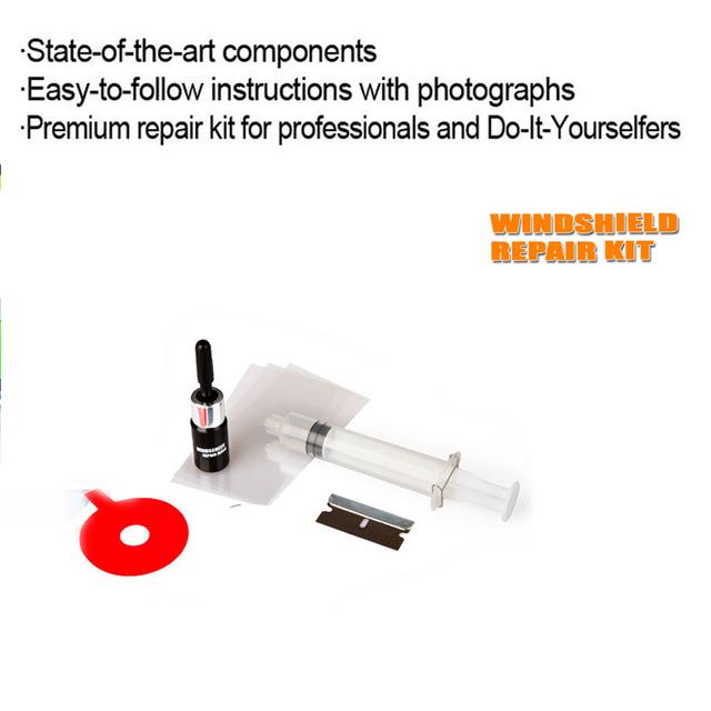 Auto Car Glass Windscreen Windshield Repair Set For Chip Crack Bullseye Protective Decorative Stickers DIY Repair Kit Tools