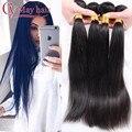 Xuchang Longqi Beauty Hair 7a Brazilian Virgin Hair Straight tissage bresilienne lots 4 Unprocessed Brazilian Hair Weave bundles