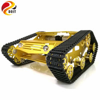 Y100 Robot Tracked Tank Car Chassis with Aluminium Alloy Frame and Wheel for Robot Education Modification DIY Tank Model RC