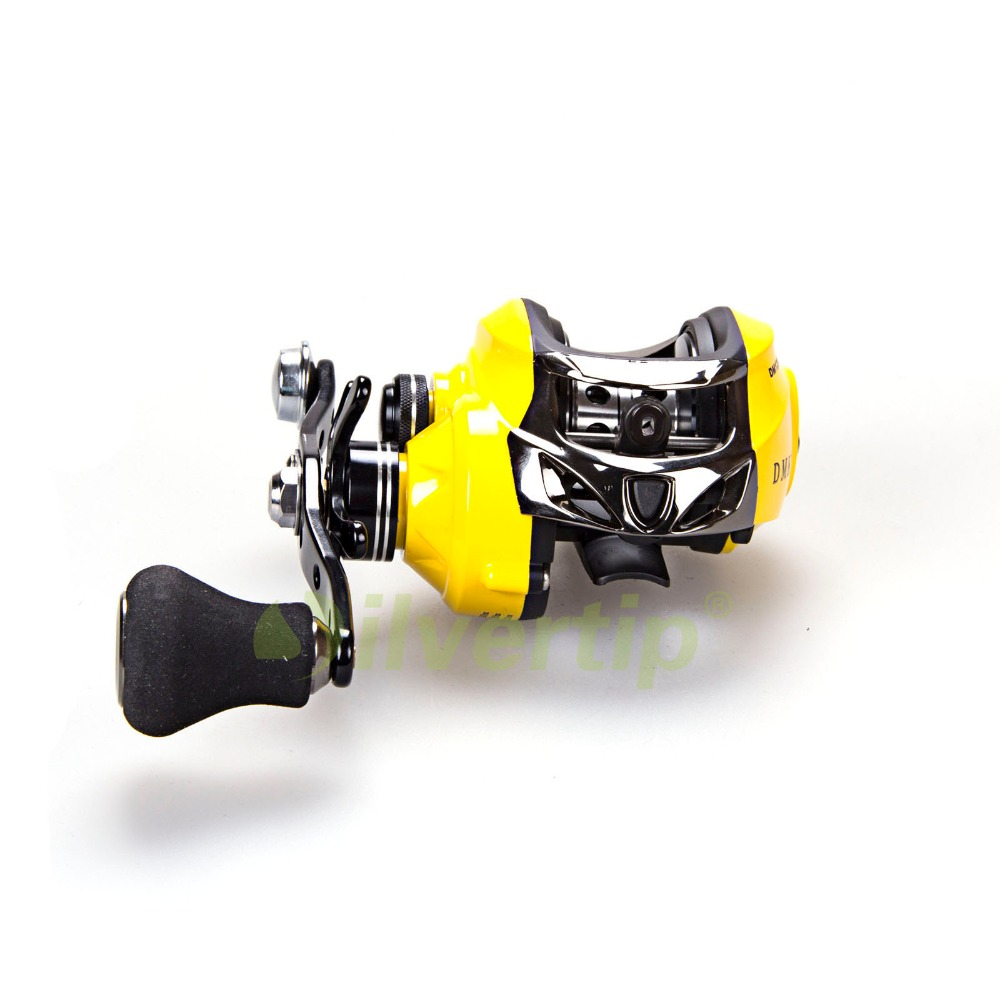 ФОТО Free Shipping New 13+1 BB 7.0:1 Baitcasting Fishing Reel Bait Casting Magnetic Yellow Reels Single Power Balance Handle DMK