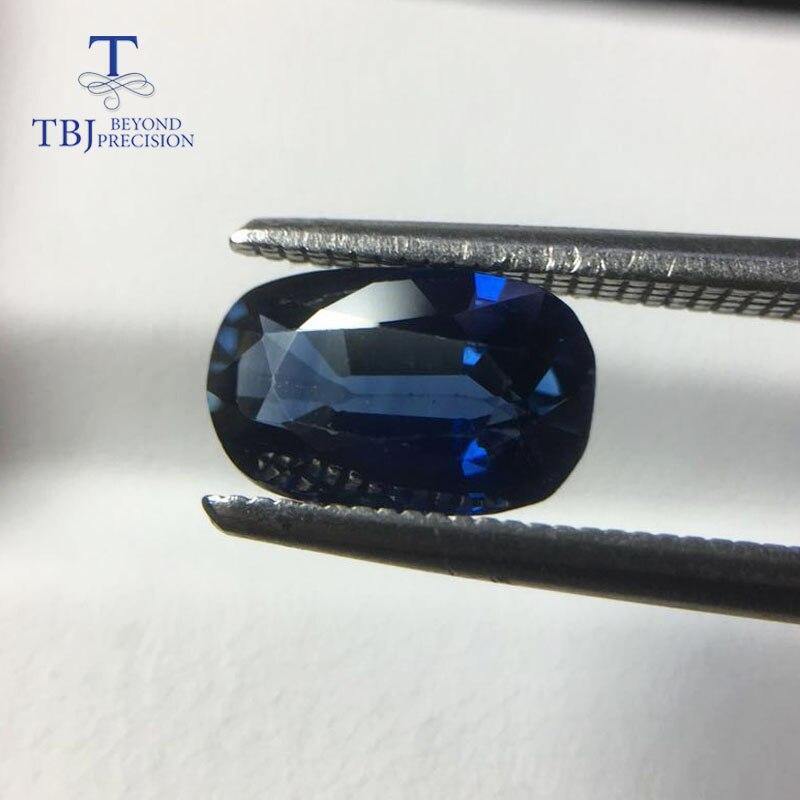 TBJ, saphir bleu africain chauffé naturel ovale 6*9.7mm ard 2.18ct, pierre précieuse en vrac pour montage de bijoux en argent sterling 925 ou en or