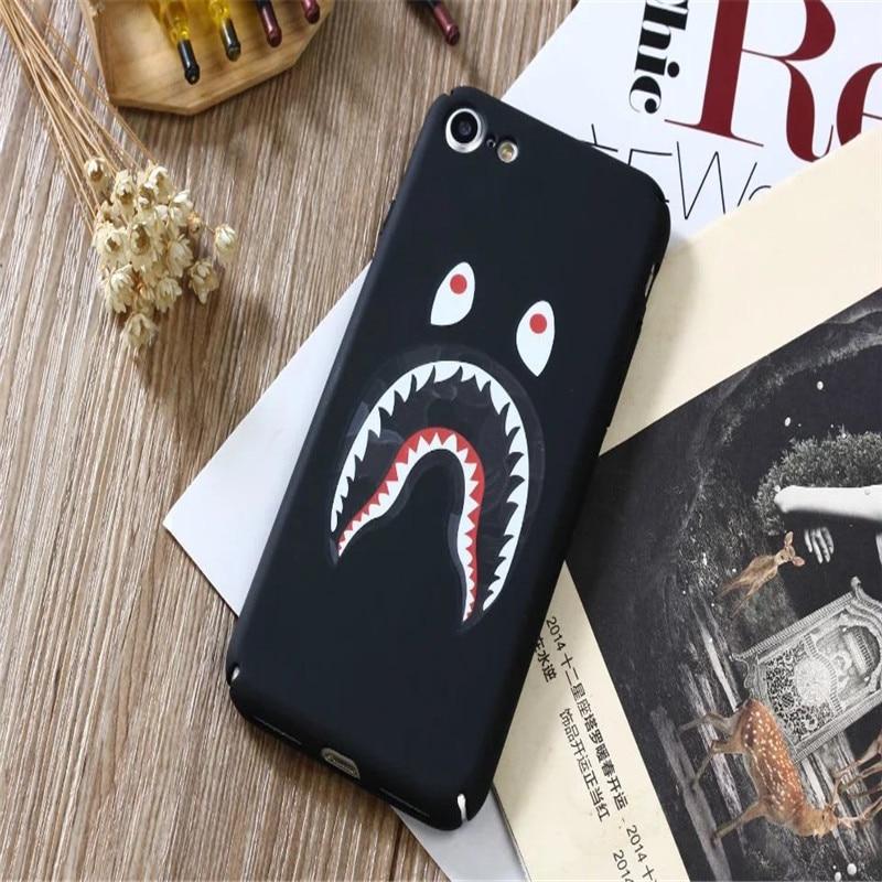 Для iPhone 6 6 S 7 8 X плюс роскошный 3D камуфляж с изображением акулы Световой ночник жесткий Пластик PC чехол для телефона задняя крышка бампера