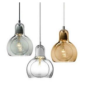 Image 3 - Modern Creative simple dining room Pendant Light Clothing store flower shop glass Pendant lamp E27 Edison Decorative light bulb