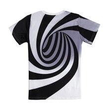 Alisister Black And White Vertigo Hypnotic Printing T Shirt Unisxe Funny Short Sleeved Tees Men/women Tops Men's 3D T-shirt