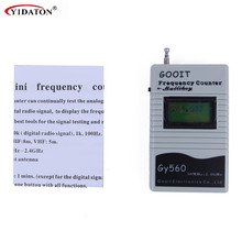 Walkie Talkie Parts GY560 Frequency Counter Mini Handheld Meter for Two Way Radio Transceiver GSM 50 MHz-2.4 GHz LCD Display