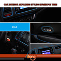 Newest Luminous Car-Styling 15M Car Interior Grille Vent Rim Moulding Decoration Styling Trim DIY Strip Fluorescent Blue Line