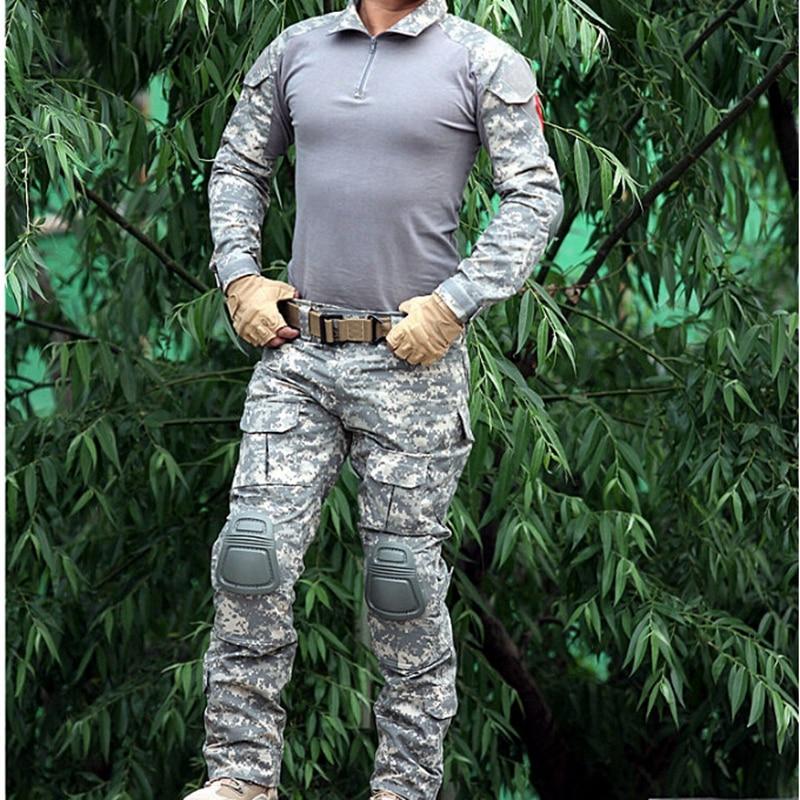Jagd-tarnanzug Sportbekleidung Intelligent Airsoft Gen2 Tactical Kampf Uniform Anzug Hosen Set Ellbogen Knieschützer Wargame Jagd Kleidung Acu Cp Fg Au Unterscheidungskraft FüR Seine Traditionellen Eigenschaften