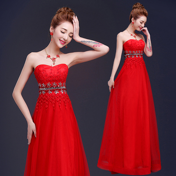 2019 new arrival stock pregnant women plus size bridal gown party A line sweetheart red lace long evening dresses LD1516