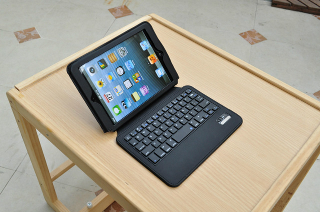 ФОТО 2017 Fashion Azerty version French bluetooth keyboard case for ipad mini 1 2 3 tablet pc for ipad mini 1 2 3 keyboard case