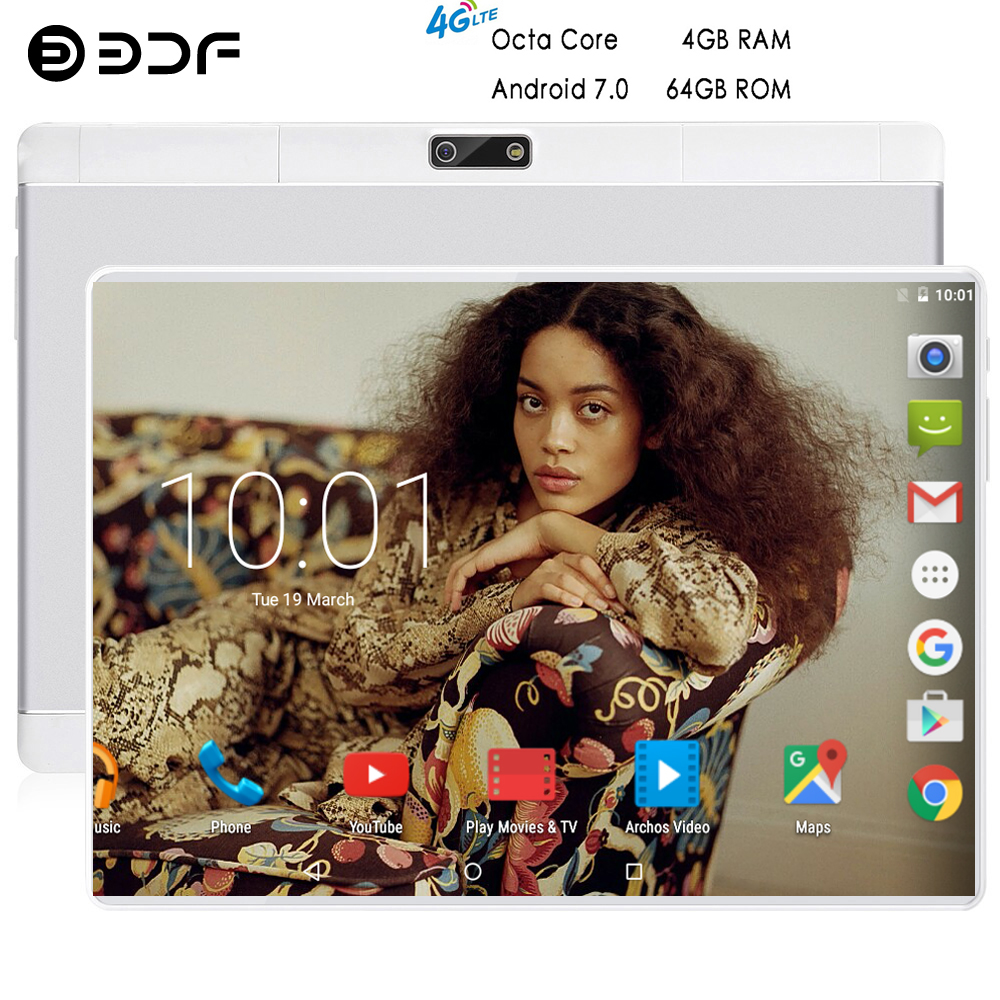 BDF 2019 Best-Selling 10 Inch 4G Phone Call Tablets Octa Core 4GB+64GB Android 7.0 Tablet Pc WiFi Bluetooth Dual SIM 7 8 9 Tab