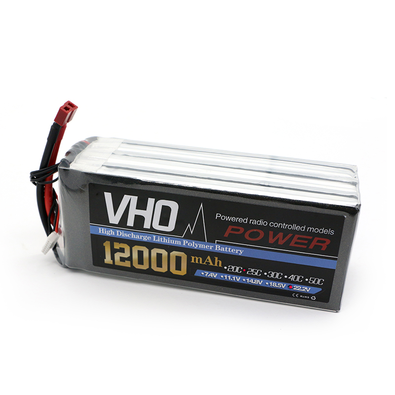 VHO 6S 22.2V 12000mAh 25C LiPo Battery Traxxas for RC Helicopter Airplane Car Boat Quadcopter Airplane drone Spare Parts lipo battery 7 4v 2500mah for mjx f45 f645 t23 rc parts helicopter battery can add 3in1 charger f45 22 extra spare toys
