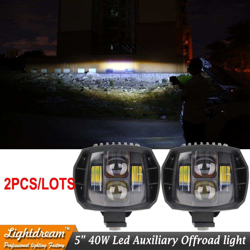 40 W phare Led 5 w 5 pouces nouvelle lumière de conduite led 2016 nouvelle lumière de brouillard Led utilisée pour voiture camion suv atv marine nouvelle lumière externe x2
