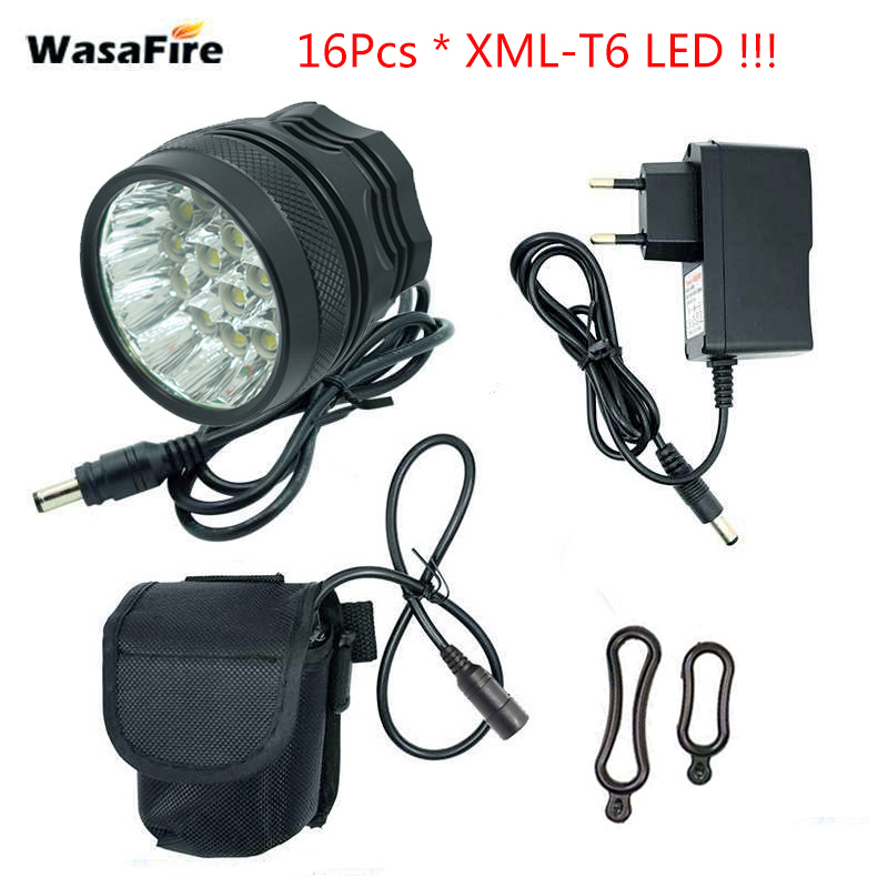 WasaFire 40000 lm 16 xT6 LED Bicycle light front Headlight Riding Cycling Bike Front Light for