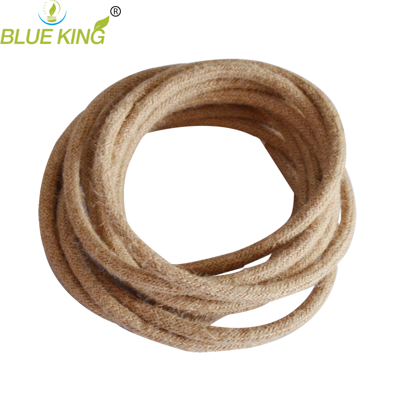 2*0.75mm2 5m/Lot Edison Vintage Round Electrical Wire Loft Rope ...