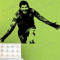 Free shipping Wall Stickers Wholesale and retail Wall decor PVC material decals wallpaper football star World Cup Z-242