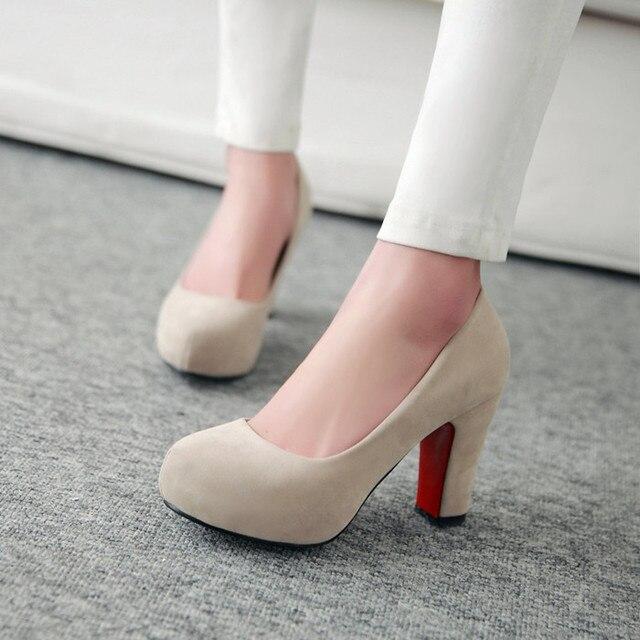 Aliexpress.com : Buy Hot fashion thick heel women shoes red bottom