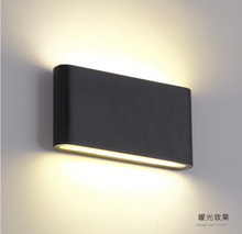 T Waterproof Outdoor Wall Lamp Square Aluminu Head Bedroom Bedside Lamp Modern Simple Interior LED  Hotel project lights