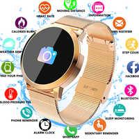 Q8 rastreador de Fitness para mujer reloj inteligente para hombre pulsera impermeable IP67 Monitor de ritmo cardíaco pulsera deportiva para Android IOS