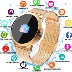 Q8 rastreador de fitness mulheres relógio inteligente homem smartwatch ip67 à prova dip67 água pulseira monitor freqüência cardíaca esporte para android ios