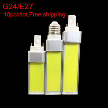 10PCS 10W 12W 15W Indoor light E27 G24 G23 E14 LED Corn Bulb Lamp Light COB Spotlight 180 Degree AC85-265V Horizontal Plug Light