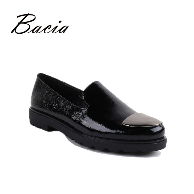 Bacia Brand 2016 New Design Shoes High Quality Genuine Leather Flats Women Comfort Loafers For Spring Summer Causal Wear VC006