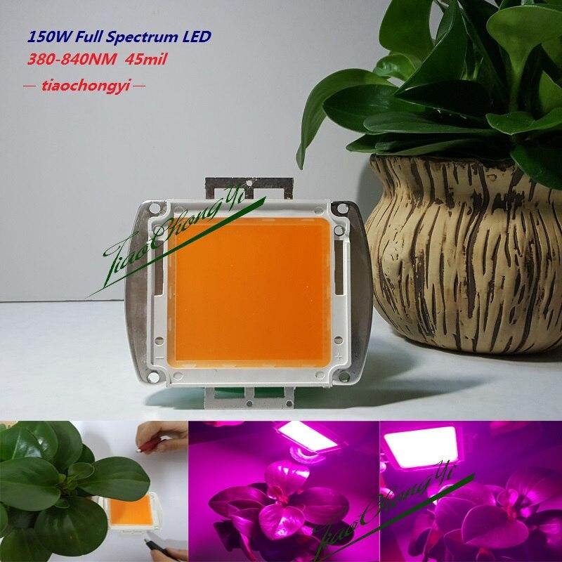 150 Вт 380nm-840nm 5.25A высокой мощности полный спектр привело чип светать для гидропоники