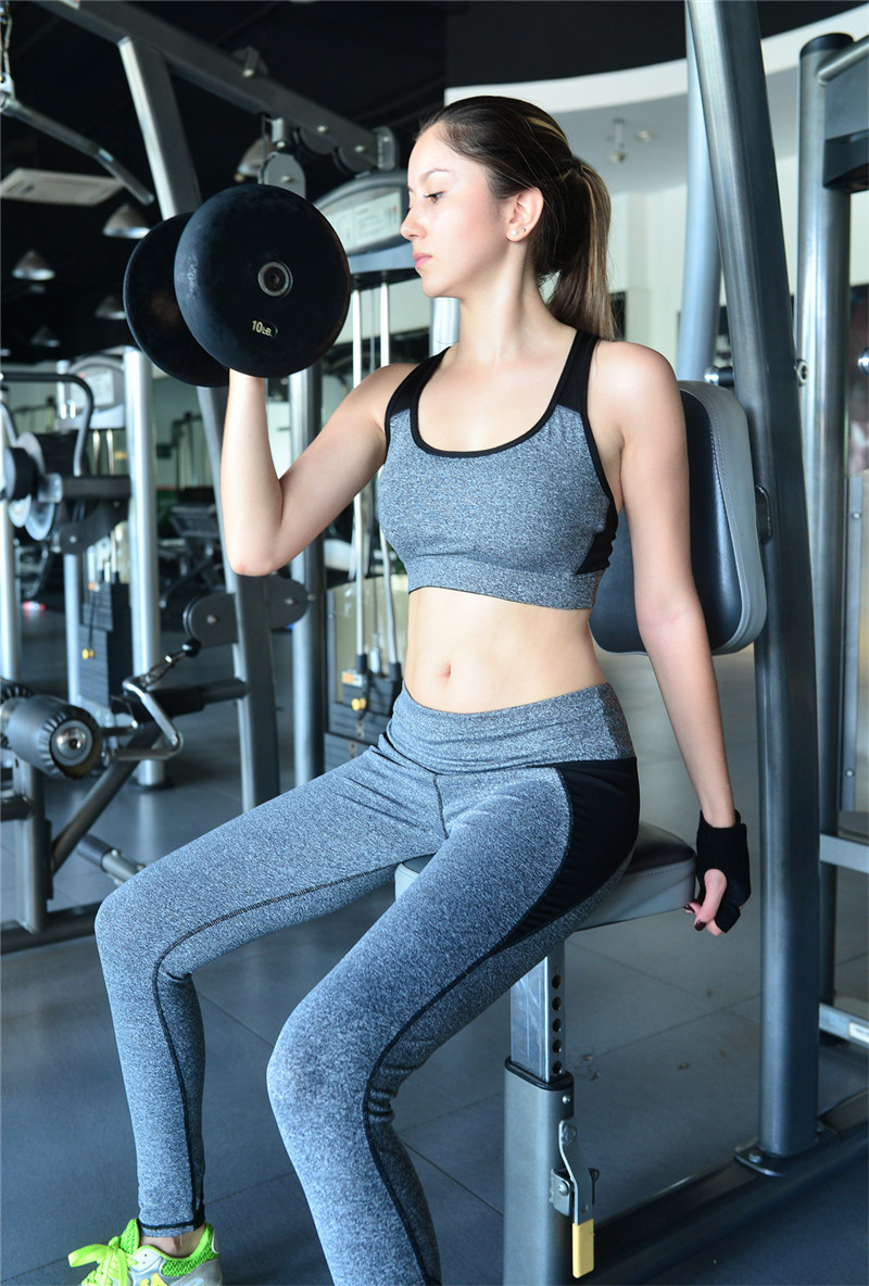 Women s yoga sets sport suit workout clothes female fitness sports - Aliexpress Com Buy Fitness Workout Clothing And Women S Gym Sports Running Girls Slim Leggings Tops Women Yoga Sets Bra Pants Sport Suit For Female From