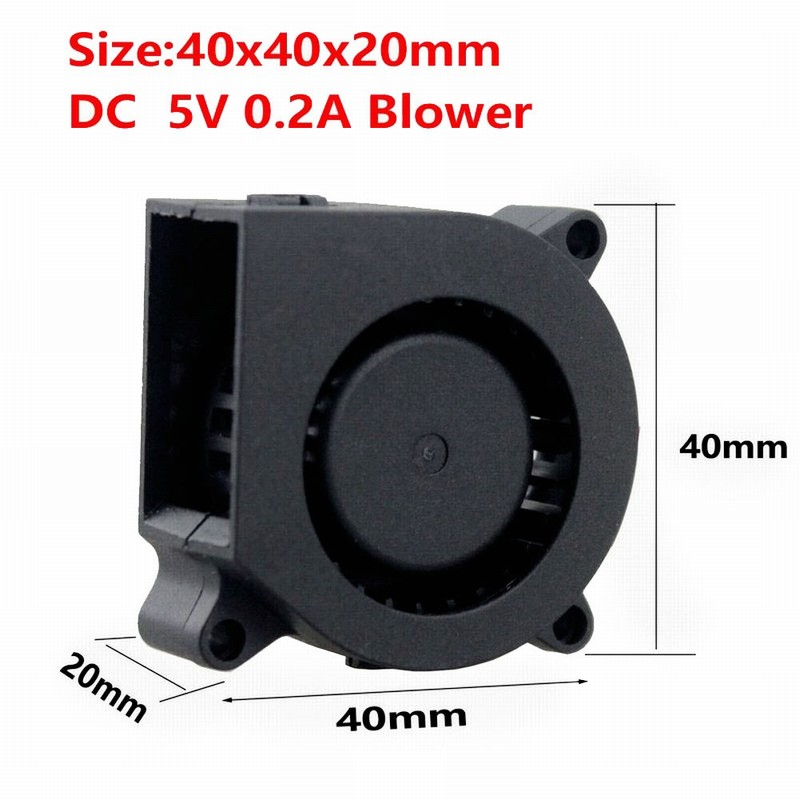 1pcs Gdstime 4020 40mm x <font><b>20mm</b></font> Small <font><b>Fan</b></font> Dual Ball Bearing 3D Printer 40mm DC Cooling Blower <font><b>Fan</b></font> <font><b>5V</b></font> image
