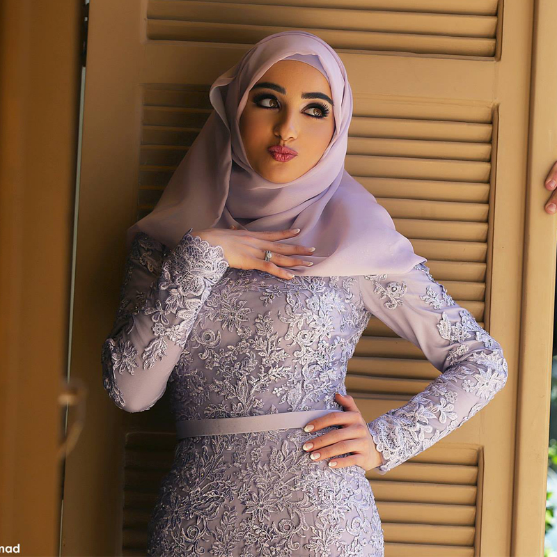 Fashionable Mermaid Hijab Prom Dresses 2016 High Neck Vintage Kuwait Arabic  Dress Vestidos de Formatura Prom Gowns -in Evening Dresses from Weddings ... 2dd9176cc94e