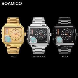Image 4 - 2019 nowych moda BOAMIGO Top marka luksusowy męski zegarek 30m wodoodporny zegar z automatyczną datą męskie zegarki mężczyźni cyfrowy zegarek na co dzień