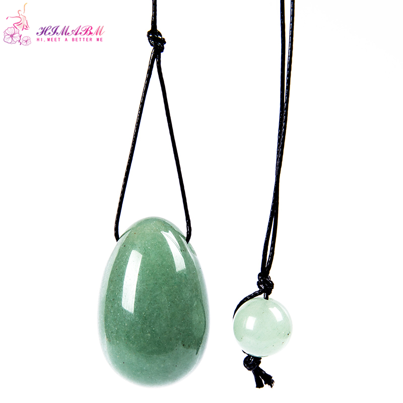 30*20mm Natural jade egg for kegel exercise pelvic floor muscles vaginal exercise yoni egg ben wa ball
