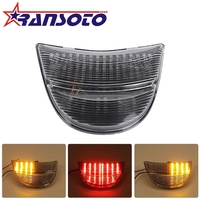 RANSOTO Motorcycle Smoke LED Tail Light Rear Lamp w/ Turn Signals Integrated For HONDA CBR900 CBR954 2002 2003