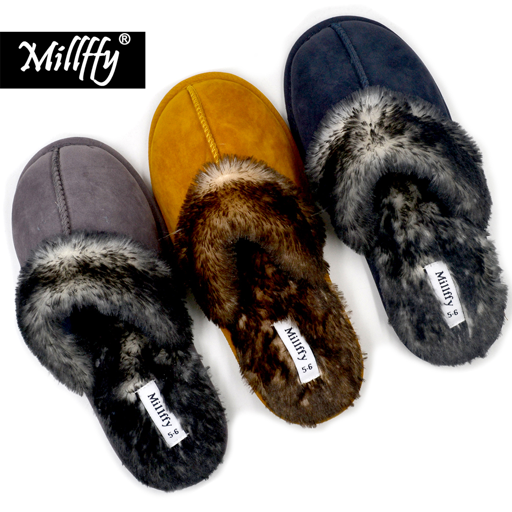 0db6b961ac2 Detail Feedback Questions about Millffy Nordic Faux Trim Slip On Womens  House Slipper with Memory Foam slippers shoes woman chaussures femme on ...