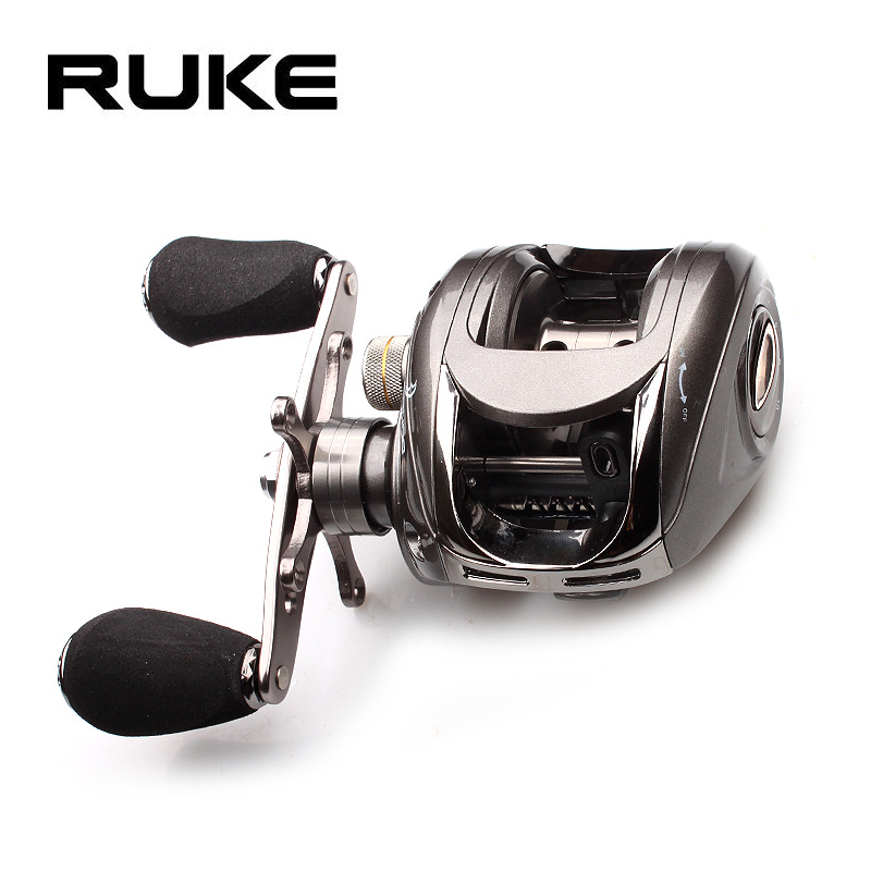 Ruke Fishing Reel Casting Gear Ratio 5.1 :1 Aluminum Spool Magnetic Brake Bearing 5 1