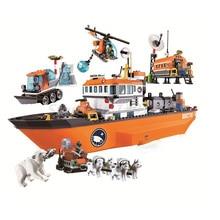 Bela 10443 Urban City Arctic Icebreaker Model Building Block Sets 760Pcs Brick DIY Toys For Kids Gifts Compatibe With 60062