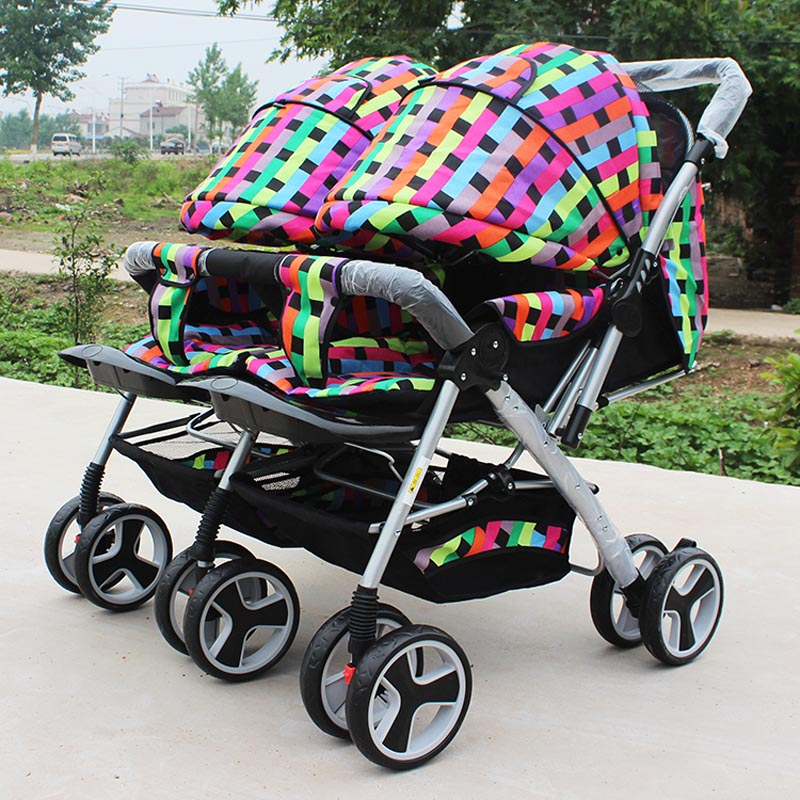 Baby Carriage Twins Stroller Double Stroller Super