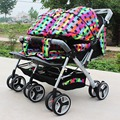 Carrinho de bebê, gêmeos carrinho de criança, carrinho duplo, super suspensão gêmeos carrinhos transportadora carrinho de bebê buggy jogger carrinhos de mão, fastshipping