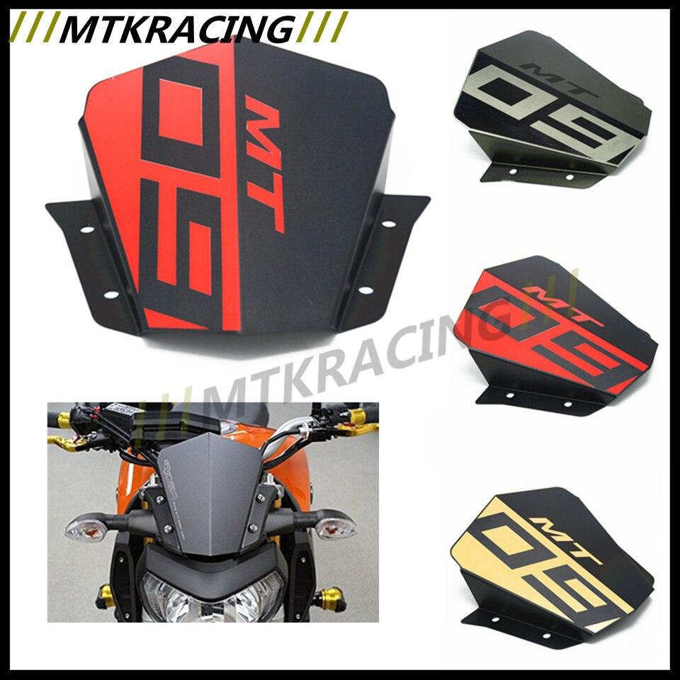 MT 09 Motorbike Windshield Wind screen For Yamaha MT09 MT-09 FZ-09 2014 2015 2016 Aluminum universal cnc fairing wind screen screws bolt windshield mounting nut wellnut body work fasten for yamaha mt03 mt09 mt 03 mt 09