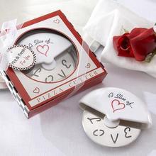 20 шт./лот) Уникальные свадебные сувениры кусочек сердца из нержавеющей стали резак для пиццы свадебный подарок для гостей и вечерние сувениры
