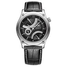 Hojut A58 япония лететь обратно шесть рук движение двойной функцией зоны мужчины бизнес кварцевые часы