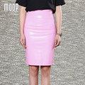 Ol rosa PU faldas de cuero mujeres delgado dividir pencil skirt faldas jupe saia et7208 falso falda de cuero envío gratis LT383