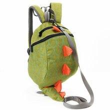 Green Children 3D Toddler Dinosaur Schoolbag Waterproof Anti-lost Backpack Kids Shoulder Bag Satchel Knapsack