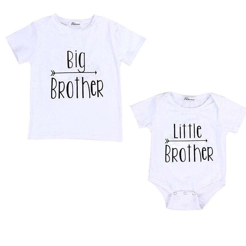 Big Brother Baby Jungen T-shirt Kleinen Bruder Strampler Body Passender Kleidung neugeborenes baby Boy set sommer kleidung