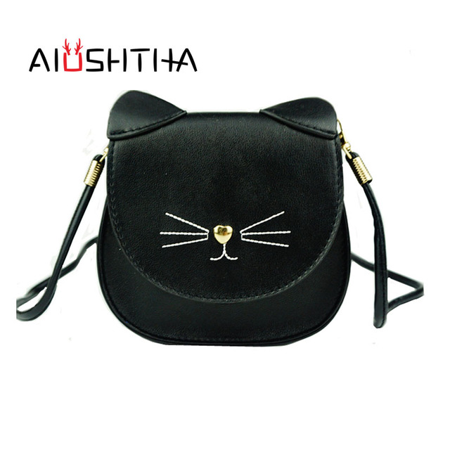 children bags handbags girls cat cross body shoulder bag of famous brand kids kawaii cute women new year Christmas present gift