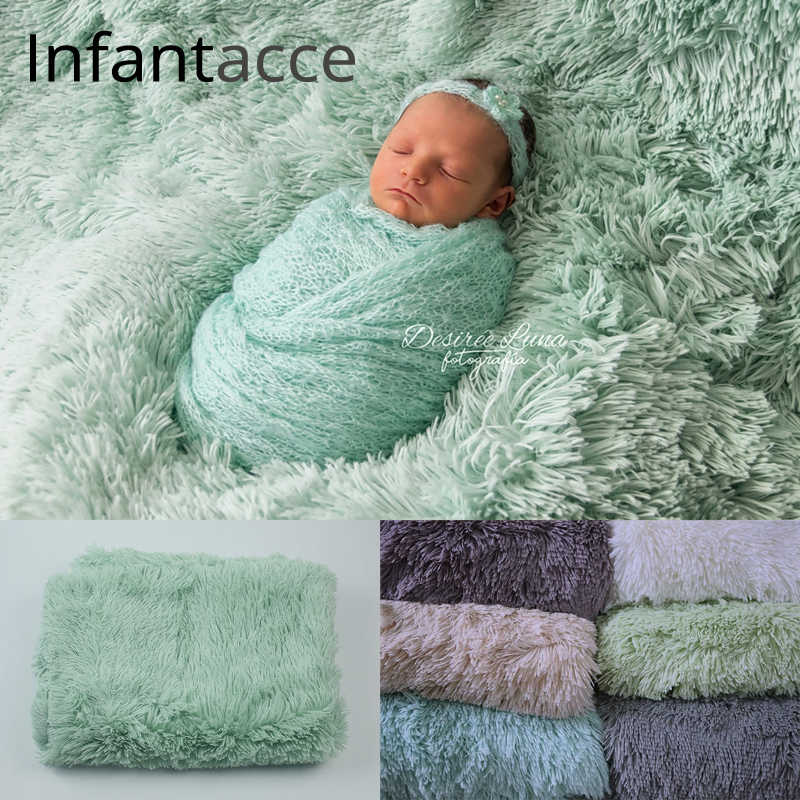 180*130cm faux fur blanket newborn photography props and studio photography background newborn shooting props backdrops fleece