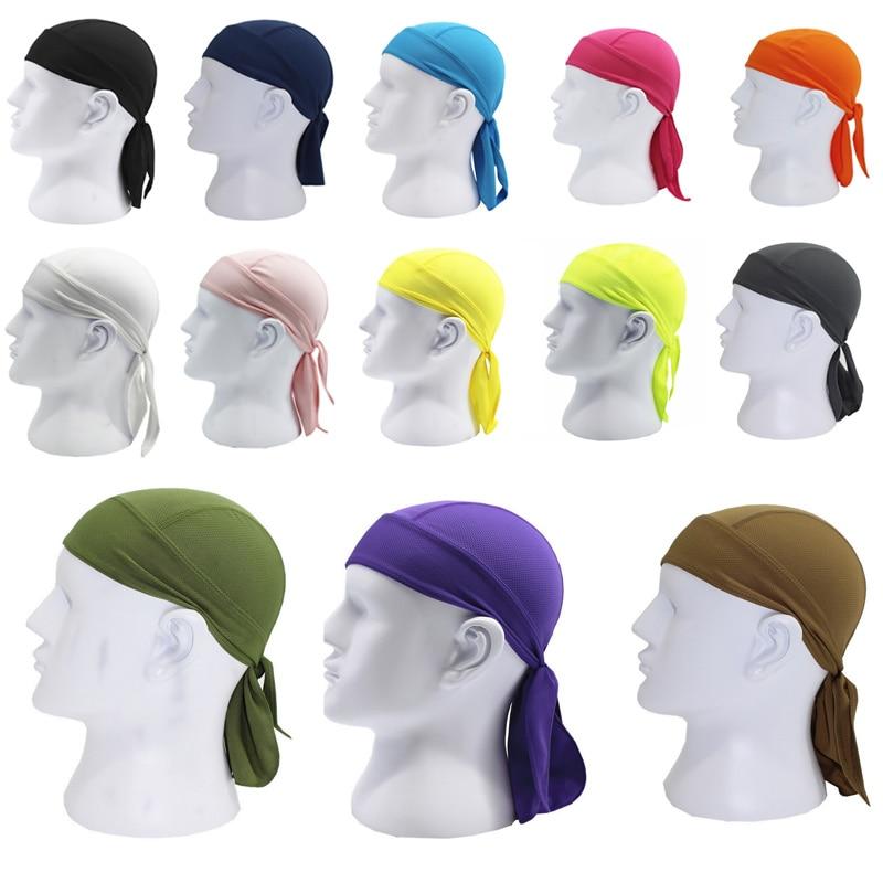 все цены на High Quality Unisex Men Women Quick Dry Breathable Pirate Cap Magic Headband bandana ciclismo Cycling Bike Bicycle cycle Hats